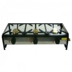 Table de cuisson à gaz autoportante 120x40 3 foyers