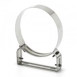 Collier 40 mm appui réglable 4/8 cm Inox