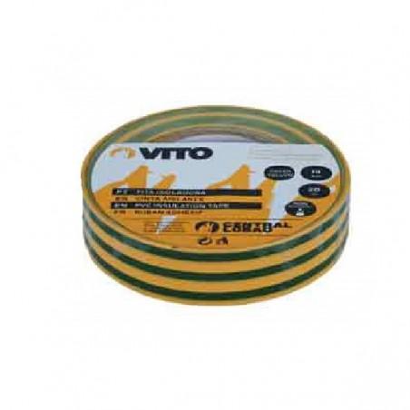 Ruban adhésif isolant VERT/JAUNE