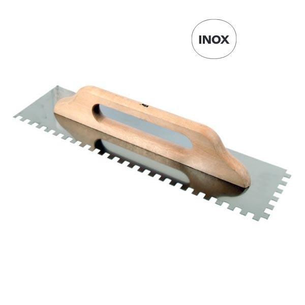 Platoir denté - 500 x 130 mm - 6 x 6 mm