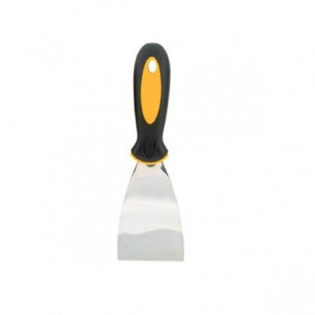 Spatule acier inoxydable manche bimatière 75 mm