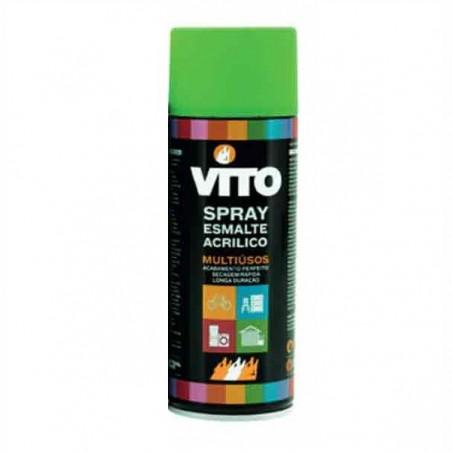 Bombe peinture acrylique vert fluorescente