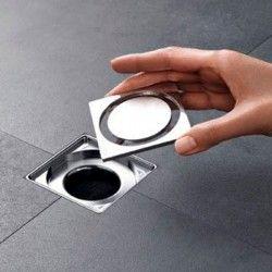 Siphon douche avec grille en Inox 15x15