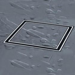 Siphon douche à carreler ABS 13x13 cm