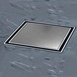 Siphon douche INOX 13x13 cm