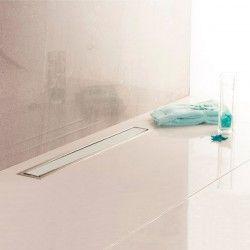 Caniveau de sol pour douche à l'italienne en verre blanc PREMIUM LINE