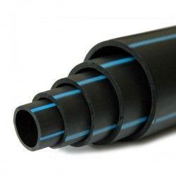 Tuyau Polyéthylène PEHD bande bleue 75 mm 16 kg / bars