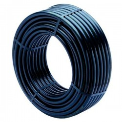 Tuyau polyéthylène noir PE d'irrigation Ø 16 mm 8 kg/bars - L.100 m