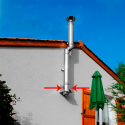 Tubage cheminée inox simple paroi - Té 90º avec bouchon