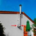 Support Charge Murale Conduit Inox Double Paroi Isolé