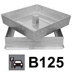 Couvercle de regard à carreler acier galvanisé 50x50