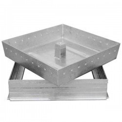 Couvercle de regard à carreler acier galvanisé 60x60