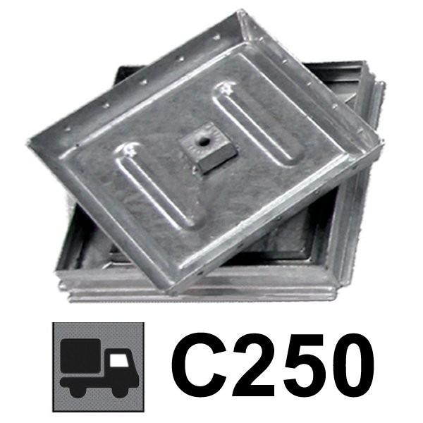 Couvercle de regard à carreler renforcé C250 40x40