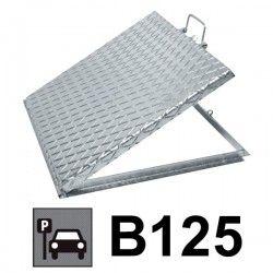 Couvercle d'inspection regard acier galvanisé 80x80 cm