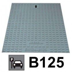 Couvercle de regard en fonte B125 + châssis 20 x 20