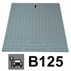 Couvercle de regard en fonte B125 + châssis 40 x 40