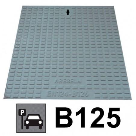 Couvercle de regard en fonte B125 + châssis 55 x 55