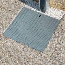 Tampa de ferro fundido para caixa cubica e aro pp C 40 x 40