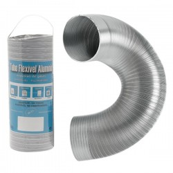 Gaine Alu semi-rigide compacte extensible 1m Diamètre 130 mm