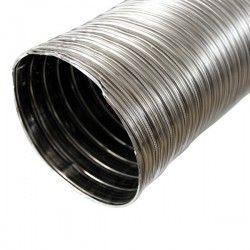 Gaine Inox flexible double paroi pour tubage cheminée Ø 150