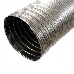 Gaine Inox flexible double paroi pour tubage cheminée Ø 200