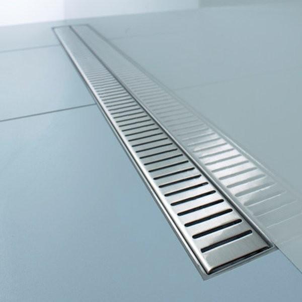 Caniveau douche à l'italienne grille en Inox 95cm