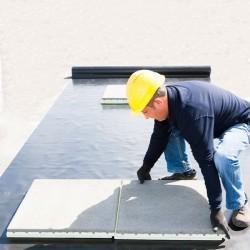 Dallage thermique TraLIT pour terrasse finition mourtier