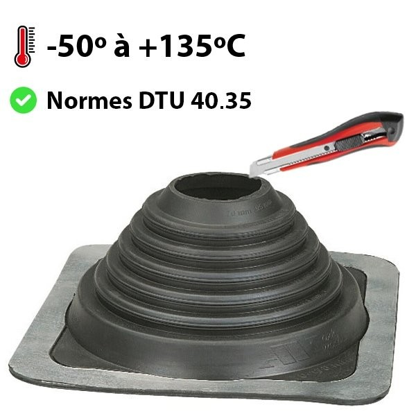Pipeco Nº5 EPDM Sortie toit silicone