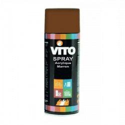 Bombe peinture acrylique marron