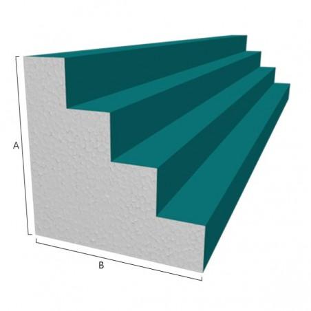 Moule polystyrène corniche Modèle P8