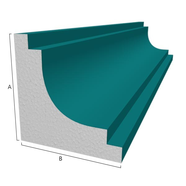 Moule polystyrène corniche Modèle P9