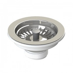 Bonde à panier inox pour évier Ø 115 mm