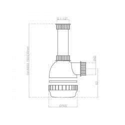 Siphon 1 cuve avec prise machine à laver