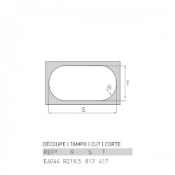 Évier UNIVERSO 800X400