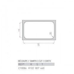 Évier LAC 800X500