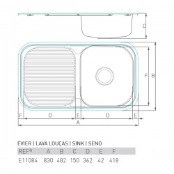 Évier LAC 800X480