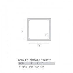 Évier HEMATITE 380X380