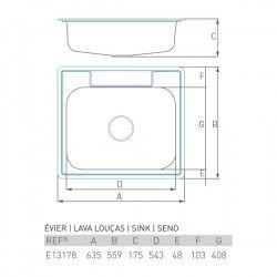 Évier ONYX 600X550
