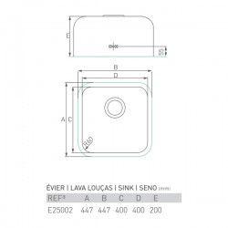Évier ZIRCON 450X450X200