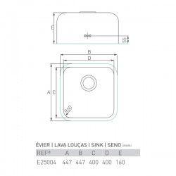 Évier ZIRCON 450X450X160
