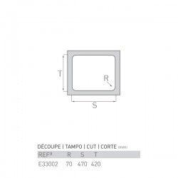 Évier AGATE 447X497X200