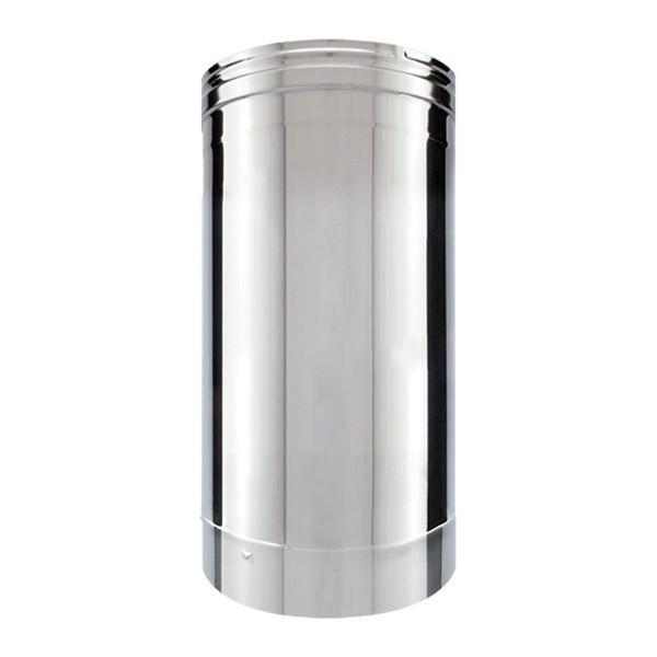 Tubage cheminée inox simple paroi - Tuyau 33 cm