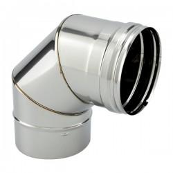 Tubage cheminée inox simple paroi - Coude 90º