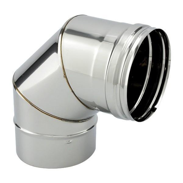 Tubage cheminée inox simple paroi - Coude 90º segments
