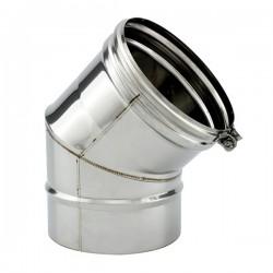 Tubage cheminée inox simple paroi - Coude 45º