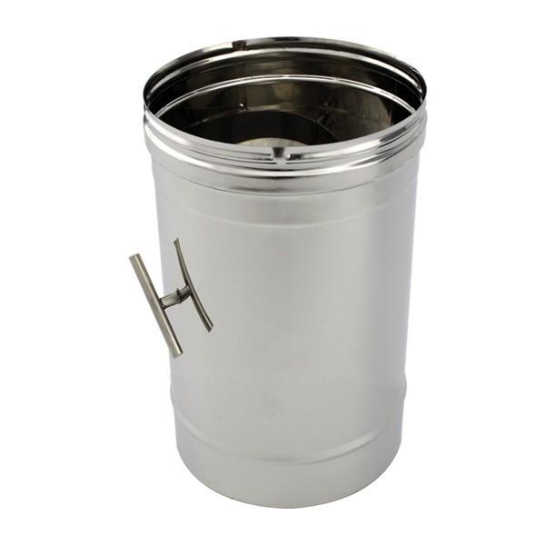 Tubage cheminée inox simple paroi - Tuyau à clapet 50 cm
