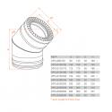 Conduit Inox double paroi isolé - Coude 45º