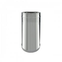Conduit Inox double paroi isolé - Tuyau 33 cm