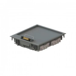 Boîtier électrique encastrer sol 250x250x56 8 modules