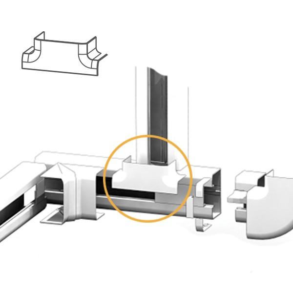 Dérivation en T goulotte électrique PVC 100x54
